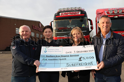 SUREFREIGHT PRESENT £5,000 CHEQUE TO SOUTHERN AREA HOSPICE