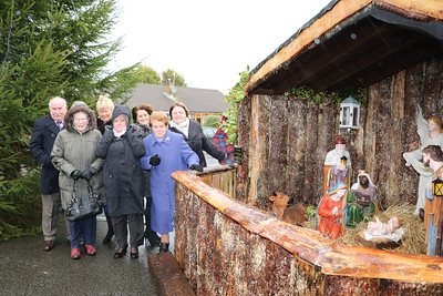 CRIB AT BALLYHOLLAND WITH DONATION BOX FOR SAHOSPICE
