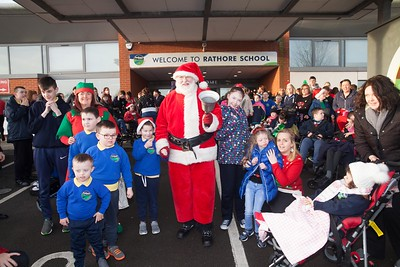 Santa arrives at rathore School Newry. R1751002