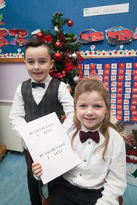 Bunscoil an Luir held their annual Christmas show recently. Pictured are Ant and Bec who preformed Bunscoil's Got Talent. R1751009