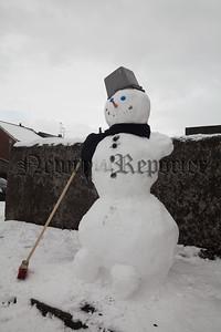 A snowman in Pool Lane Newry. R1810014