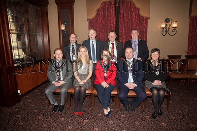 Irish Minister for European affairs Helen McEntee is pictured with Roisin ulgrew Chair of Newry, Mourne and Down Dc along with Council leaders from Border council at a meeting hekld in the Canal Court Hotel. R1811001