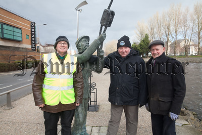 Eamonn Walker, James McAreavey and Micky Mallon from the Newry Maritime Association. R1812004