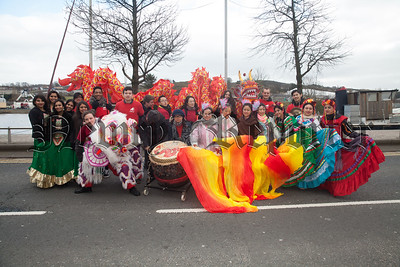 Members of Artseka before the start of the St Patrick's Day Parade. R1812013