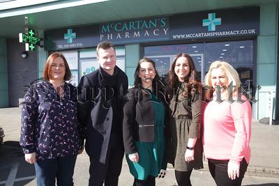 Cara McShane-Savage, Dan McCartan, Gemma McCartan, Kim Curtis and Sarah Morgan. R1813001