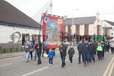 A Banner for Patrick Rankin was carried during the parade. R1814024