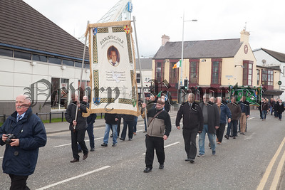 A Banner for Robert Carr was carried during the parade. R1814023