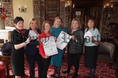 Southern Area Hospice Services are pleased to announce their 19th Annual Hospice Ladies' Luncheon will Take place on Thursday 17th May in the Canal Court Hotel. Pictured at the Launch are, Louise Young 9Canal Court Hotel), Deirdre Murdock (General Manager Weight Watchers NI), Attracta Mageinnis, Guest Speaker Dearbhail McDonald along with Fiona Stephens and Majella Gollogly from the Southern Area Hospice. Tickets are priced £25 and are available by contacting Fiona on 02830251333 or emailing stephensf@southernareahospiceservices.org. R1813003