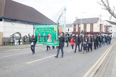 A Banner for Marks/McKeown was carried during the parade. R1814025
