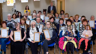 Participants in the Building Cultural Bridges Programme receive their certificates at the final event in the programme at Newry and Mourne Co-Operative and Enterprise Agency. Photograph: Columba O'Hare/ Newry.ie
