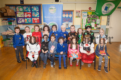 Primary 3 pupils at Bunscoil an Luir who dressed up for World Book Day. R1816006