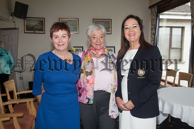 Jane Compton and Liz Black are pictured with Lady Captain Anne Keenan at the Luncheon for Past and Present members at Warrenpoint Golf Club. R1815007