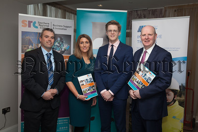 The Northern Ireland Chamber of Commerce held a networking event in the SRC Newry as part of their series of events in 2018. Pictured with Brian Doran from SRc are, Andrew Smythe NIE Networks, Edel Creery SRC and Joseph Doherty Re-Gen Waste. R1816001