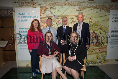 Pictured at the Re-opening of Newry and Mourne Museum. From left: Noreen Cunningham, Currator, Newry Museum; Cllr Roisin Mulgrew, Chairperson, Newry, Mourne and Down District Council; Declan Carroll, Musuem Education Officer; Ken Abraham, Assistant Currator; Marie Ward, Director of Enterprise and Regeneration, Newry, Mourne and Down District Council and Liam Hannaway, CEO, Newry, Mourne and Down District Council. R1817002