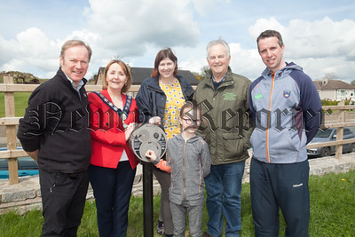 "Innovative ways to discover our heritage are being installed at Camlough Lake and Victoria Locks this week. The new audio story devices called ""U Turn Around"" are part of a interpretation and signage project run by the Ring of Gullion Landscape Partnership Scheme. PIctured at the Camlough Lake site are Chair of Newry, Mourne and Down DC Roisin Mulgrew, Des Murphy, Abby McSherry, Oliver McGauley, Rosie Ni Mhuiri and Barra O'Mhuire. R1818013"