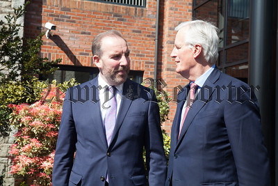 Michel Barnier European Chief Negotiator for Brexit is pictured with Ken Nelson Chairperson Intertrade Ireland. R1818016