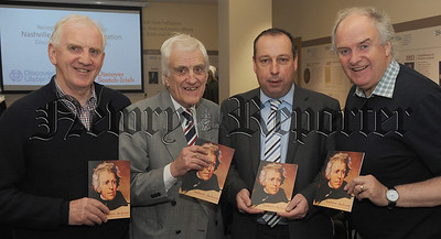 Dr Terry Kennedy, Billy Kennedy (Author and journalist), Roy McGivern (Chairman of Linfield Football Club) and Gary Kennedy MBE pictured at the launch of Billy's latest publication 'Andrew Jackson, the first Scotch-Irish President'.