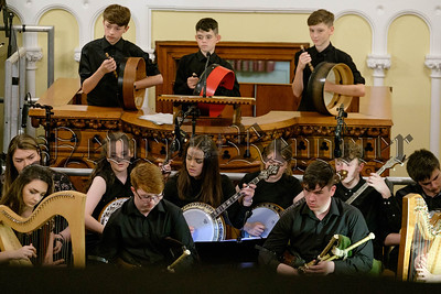 Newry Trad Youth Orchestra perform their first concert at Iúr Cinn Fleadh 2017. Photograph: Columba O'Hare/ www.newry.ie