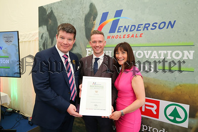 Newry food company CEO picks up Young Agri-Food innovator commendation Gareth Chambers (centre) CEO of Newry based food-to-go company Around Noon secured a finalist commendation in the prestigious Young Agri-Food Innovator award at the inaugural Henderson Wholesale Fresh Innovation Awards held during the Balmoral Show.  The awards celebrate Henderson's fresh food suppliers, farmers and growers and reward their product innovation, accessibility of goods and sustainable practices.    Presenting Gareth (centre) with his award is Neal Kelly (left), Henderson Wholesale Fresh Foods Director and awards host, BBC's Jo Scott.