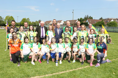 GAA DIGNITARIES VIST ST PATRICKS THE MEADOW IN ADVANCE OF NATIONAL GAA FEILI PEILE NÁ nÓg