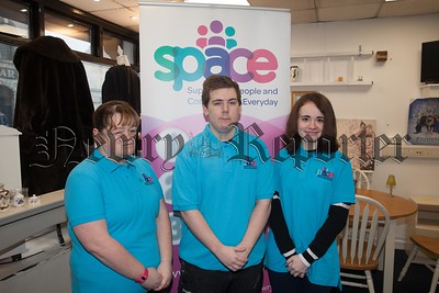 Gemma Clarke, Ciara McGivern and Cailim McParland volunteers at SPACE. R1803002