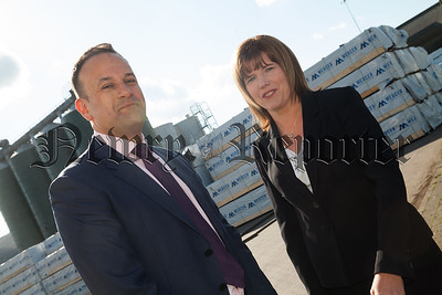 Taoiseach Leo Varadkar is pictured at Warrenpoint Port with Clare Guinness CEO. R1818019