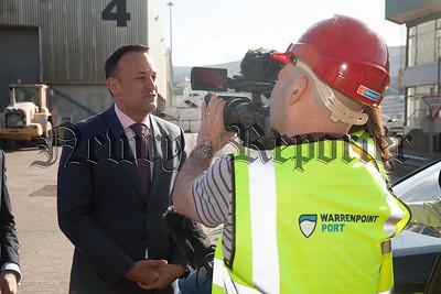 Taoiseach Leo Varadkar is pictured at Warrenpoint Port. R1818022