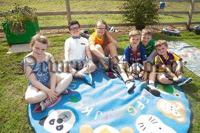 Amy, Tiernan, Dearbhla, declan, kaleb and Lorcan enjoying the picnic. R1830002