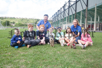 Raymond and Megan from Phils Farm pictured with some of the children enjoying the Meerkats. R1830025