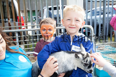 Peter and Harry with a Billy Goat. R1830024