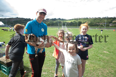 Luke Mallon is pictured with Hannah, Sofia, Caitlin and Stella at Shamrocks Summer Scheme. R1830018