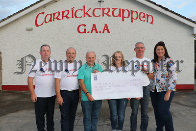 PRESENTATION OF CHEQUE TO CRY IRELAND IN MEMORY OF KEVIN FEGAN.