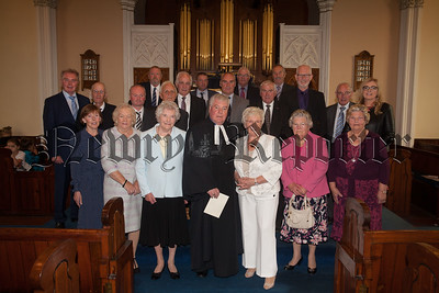 Pictured are the church committee with Rev Norman Hutton who announced his retirement at the First Presbyterian Church Newry. R1834052