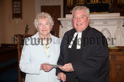 Rev Norman Hutton is pictured with Florence Hanna. R1834048