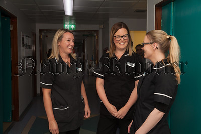 Pharmacist Sarah Wade pictured with her colleagues. R1837008