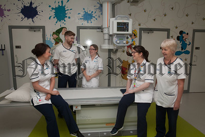 Radiographer Louise O'Hanlon pictured with colleagues at the x-ray department. R1838004