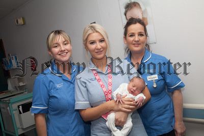Maternity Support Worker Kerri Burns pictured with her colleagues. R1837011