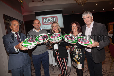 Rory Best is pictured with Garry Best, Ciara Aiken, Edwina Flynn and Conor Mallon. R1838034
