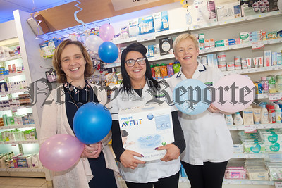 McKeevers Chemist Marcus Square are hosting a big baby event with special offers on most baby products which will run until the 30th September. Pictured are Lindsay Holland, Maria Savage and Adele Haughian. R1838042