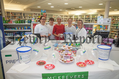 McKeevers Monaghan Street hosted a Coffee Morning on Tuesday last in Aid of the Southern Area Hospice. Pictured are Laura Phillips, Sandra Andrews, Ruth England, Heather Scott and Shiela Meagher. R1838043