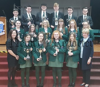 R1840112 GCSE Subject Award winners pictyured with Year Haed Miss Caroline King and Vice Principal Miss Louis Carr.jpg