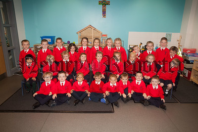 Mrs Gray's Primary 1 class at St Joseph's PS. R1839004