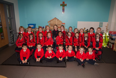 Mrs Withnell's Primary 1 class at St Joseph's PS. R1839005