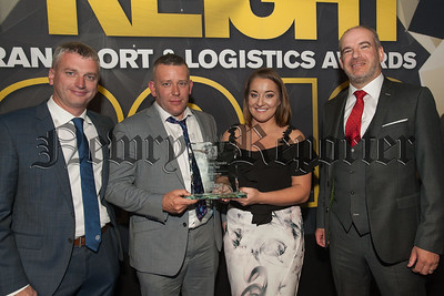 Top Training Operator of the Year Stephen Byrne and Tanya McShane for Surefreight.