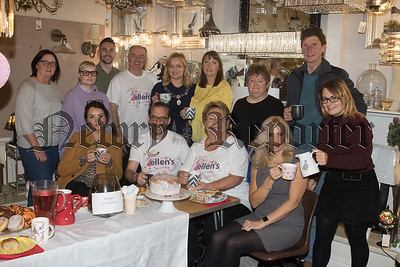 Staff and Customers pictured at a coffee morning held in JR Lighting in aid of Ellens Journey. R1841001