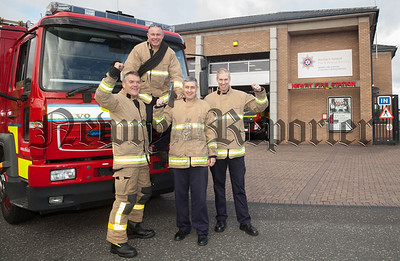 Greenwatch Newry Barry Duffy is pictured with Finton Burns, Paul McKeown and Shogie McLoughlin. R1842005