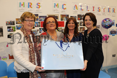 ANN MCALLISTER RETIRES AS SECRETARY OF KILLEAN PS AFTER 40 YEARS.