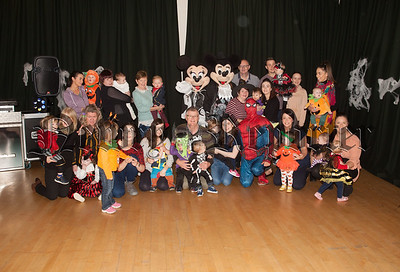 Surestart Newry held a Halloween party in Altnaveigh House last week pictured are staff along with parents and children. R1843001