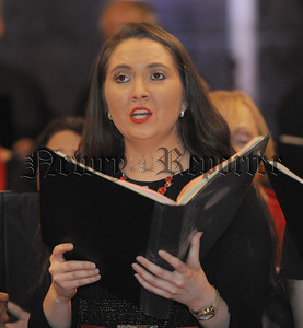 Soloist Claire Warburton pictured singing, 'Lead me Lord' at an 'Evening of Celebration Praise' presented by Kerygma (The Good News Choir) in Lisburn Cathedral on Saturday 17th November.