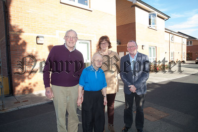 George Douglas (Cousin), Gerald Cunningham (Social Worker) and Margaret McShane (Needham House) are pictured with .R1842002